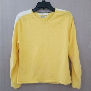 Tommy Hilfiger Womens Vintage Sweater Yellow Large